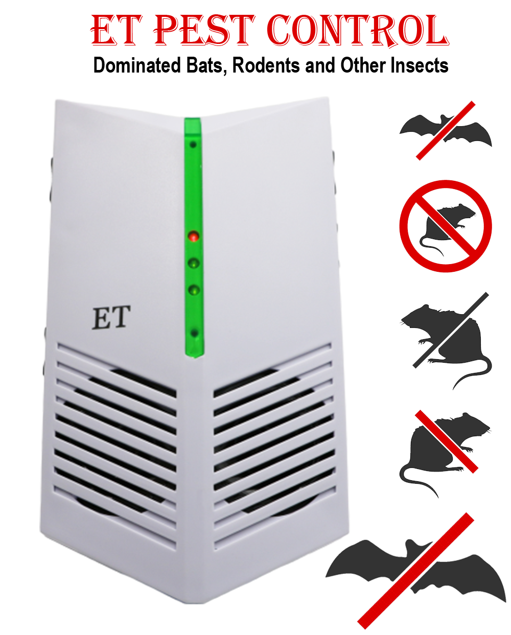 ultrasonic pest repeller | electronic pest repellent | Front